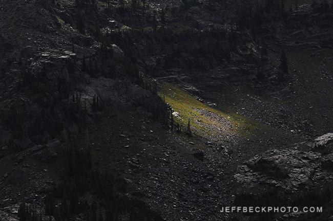 Spotlight on Dromedary Peak, Twin Peaks Wilderness, Utah