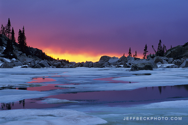 Sunset, Upper Red Pine Lake, Lone Peak Wilderness, Utah