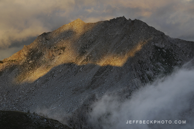 Late Light Breaks Through to Embellish White Baldy, Lone Peak Wilderness, Utah