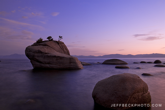 Bonsai Rock Twilight, Lake Tahoe, Nevada