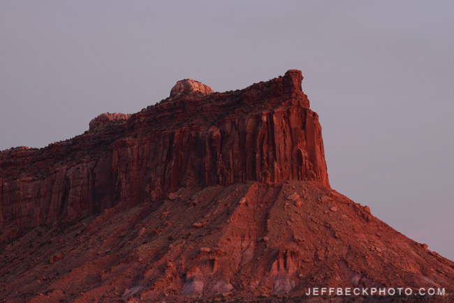Post-sunset Light, Indian Creek, Utah