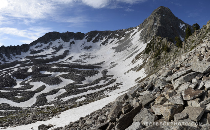 The Pfeifferhorn above Maybird Cirque, Lone Peak Wilderness, Utah