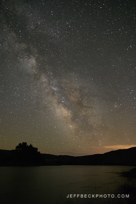 Milky Way above the Green River in  Dinosaur National Monument, Utah