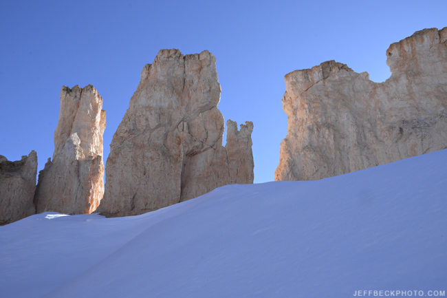 Hoodoos and Snow, Peekaboo Loop, Bryce Canyon National Park, Utah