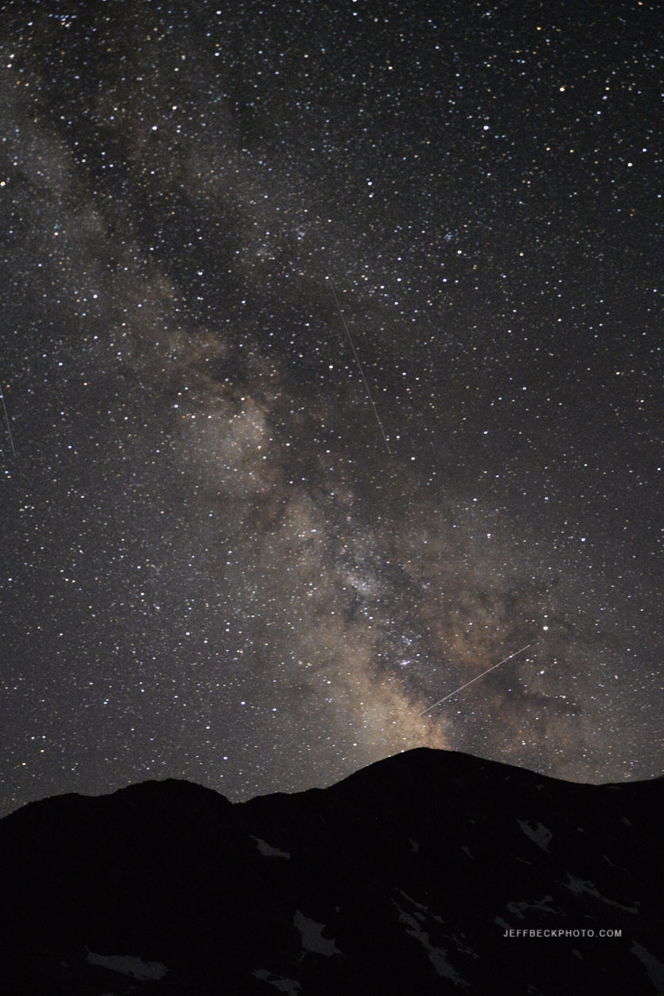 Milky Way above Elbow Peak.