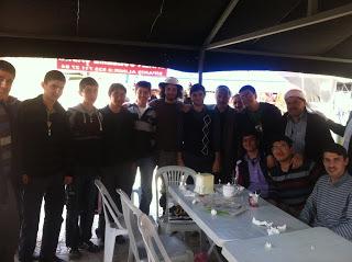 Jeremy with Pilgrims