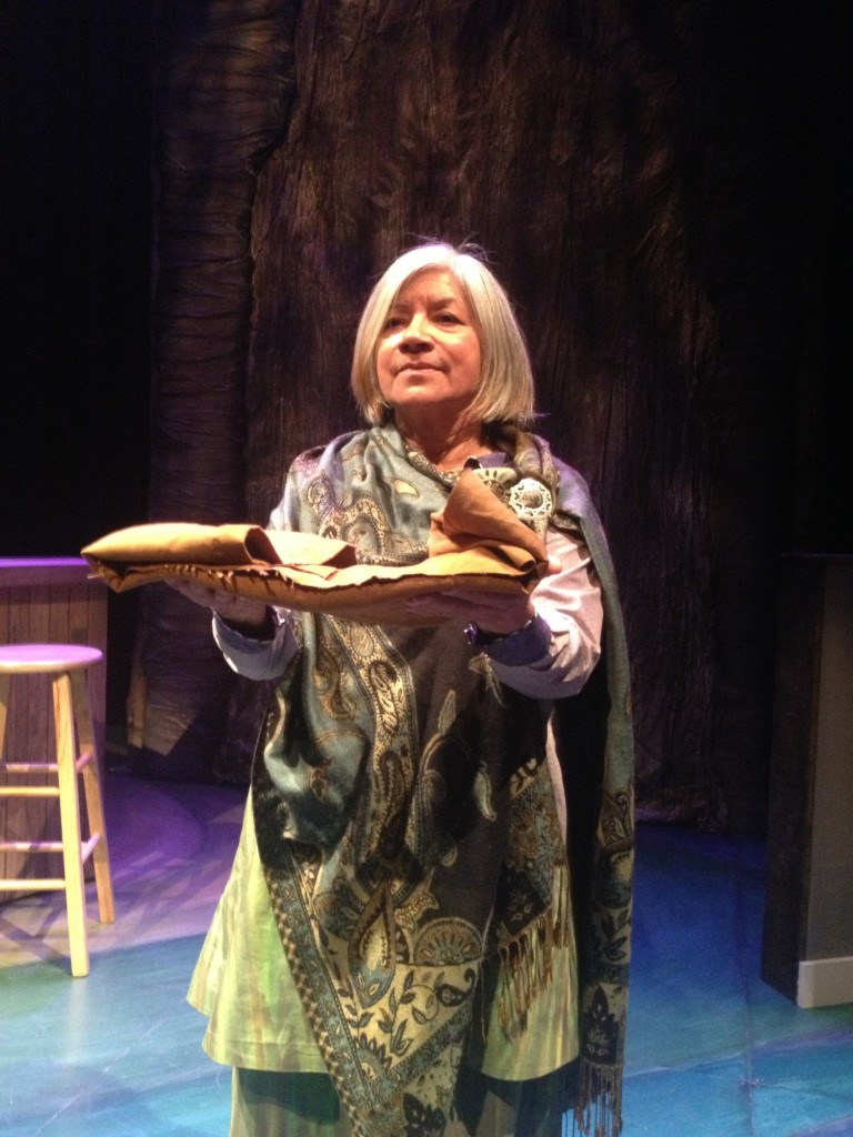 Sky Woman, a spiritual character, played by Soni Moreno.