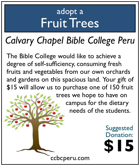 11 of 150 fruit trees have been adopted! Only 139 to go!