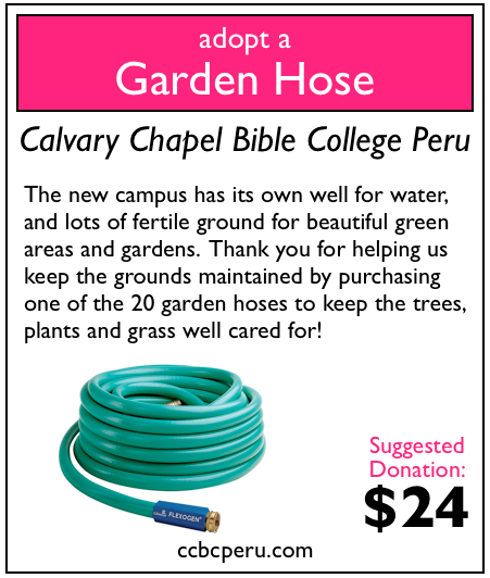 3 of 20 garden hoses adopted! Only 17 to go!