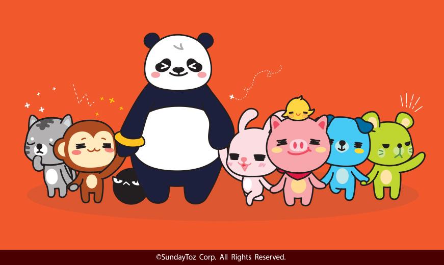 < '    애니팡'웹툰의 주인공으로 등장하는'애니팡 프렌즈'캐릭터>