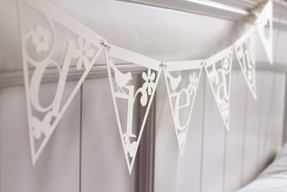 'dream' papercut bunting from Studio Seed