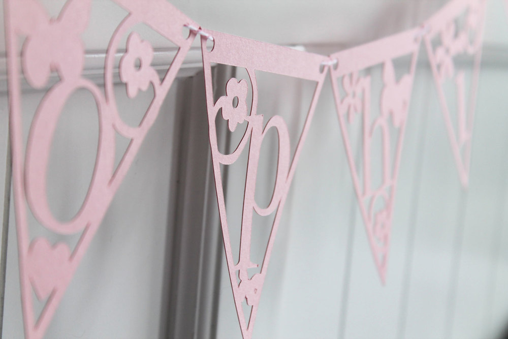 'sophie' personalised papercut bunting from Studio Seed
