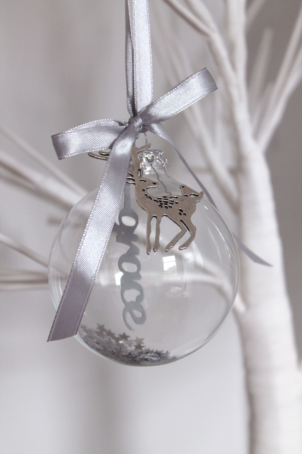 Personalised papercut bauble © studio seed