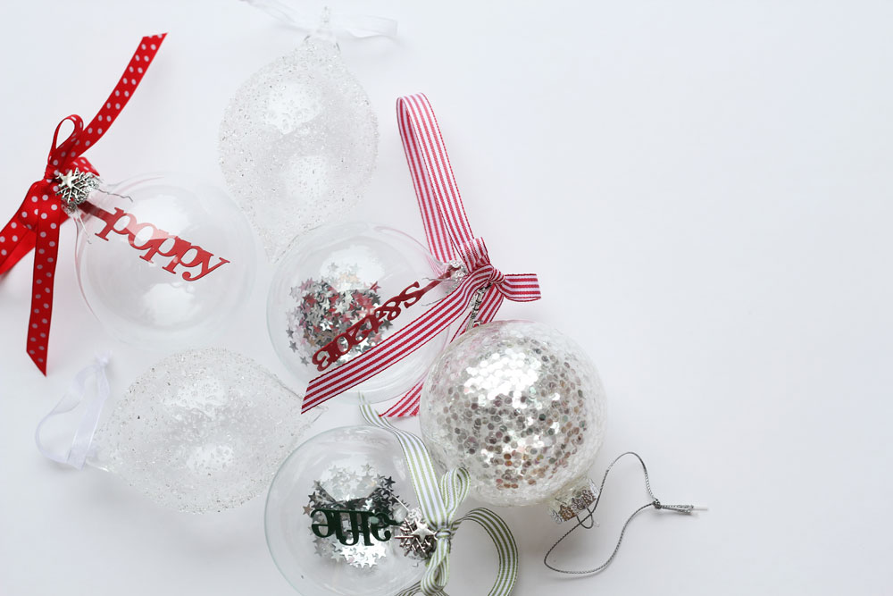 Personalised Papercut Baubles © Studio Seed