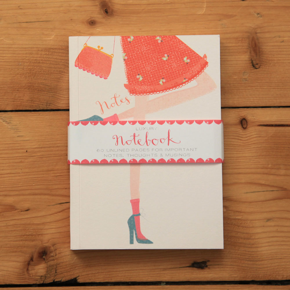 Fashionista - orange dress notebook