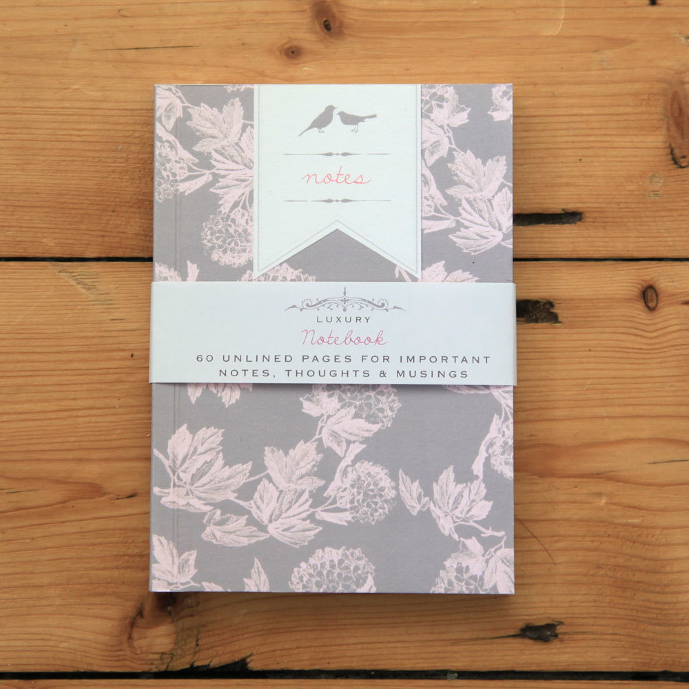 Bijou Blossom - purple floral notebook