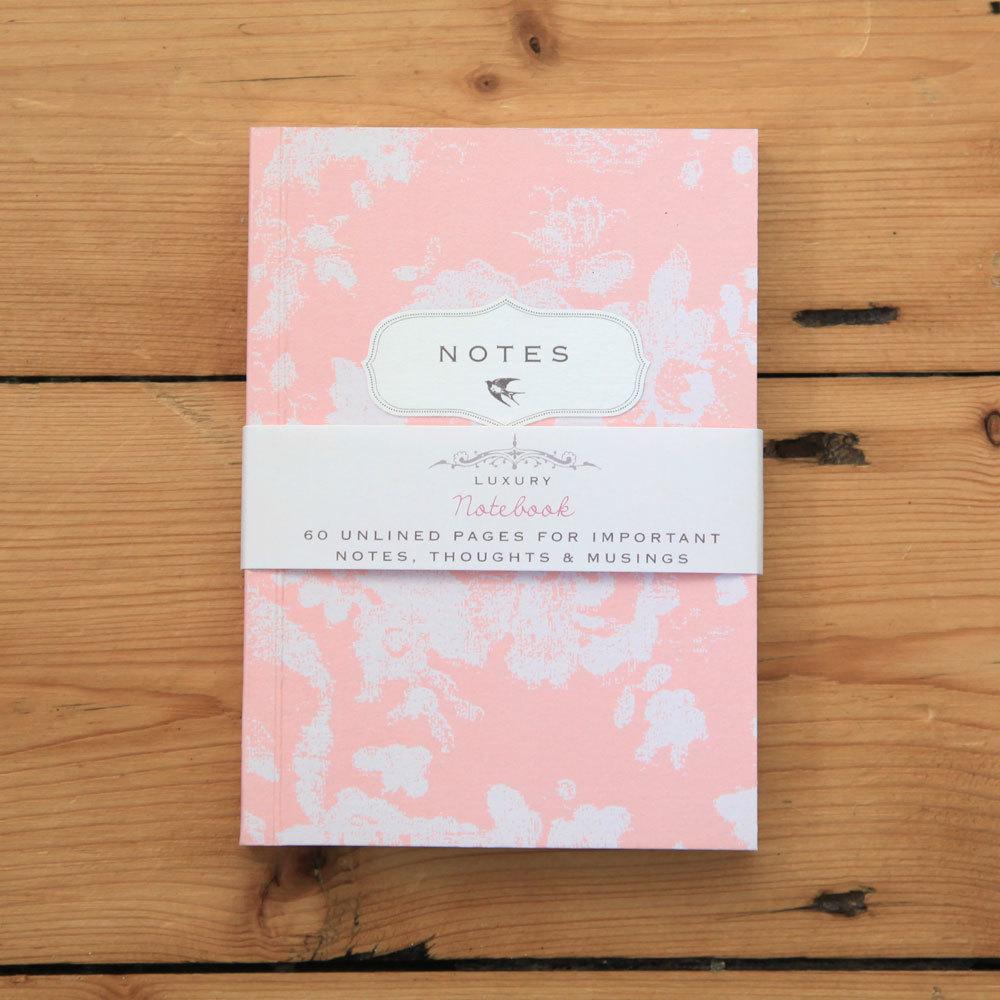 Bijou Blossom - peach floral notebook