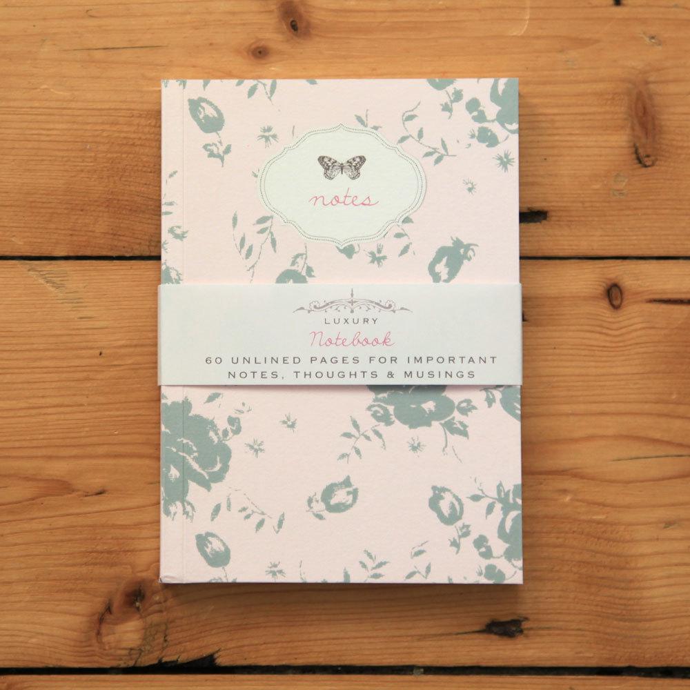 Bijou Blossom - pink floral notebook