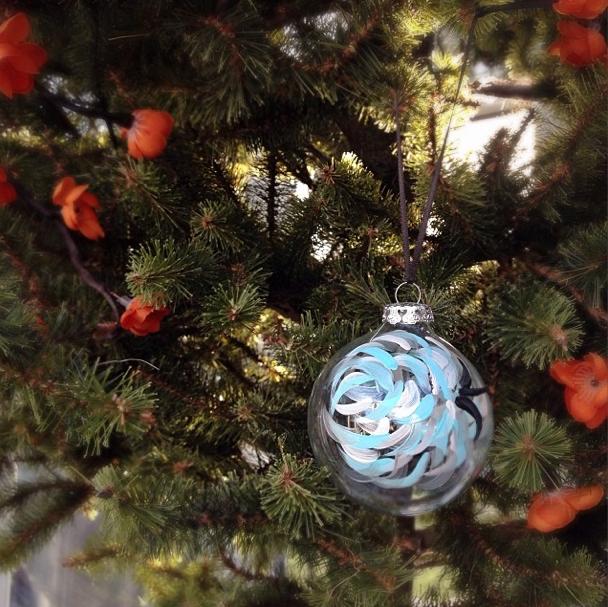Lisa Levis' bauble on Nicola's tree.