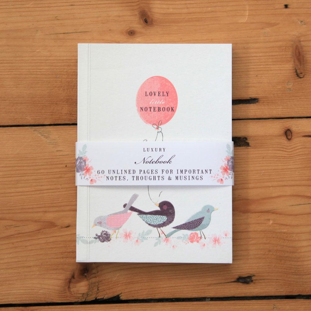 'Bird & Balloon' Luxury A6 Notebook