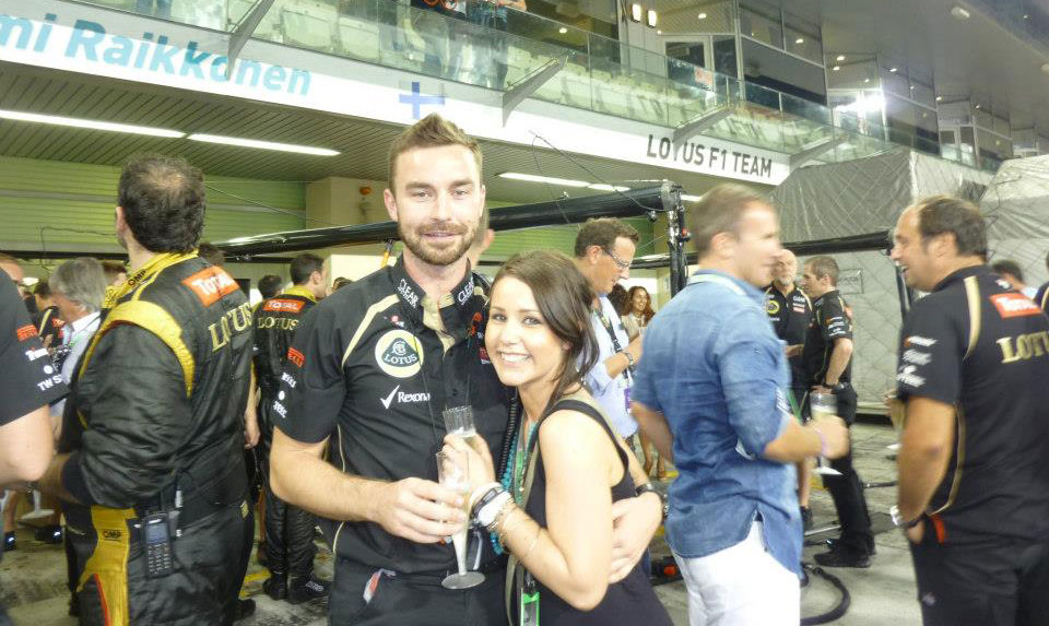 Me and Mr. R at the 2012 Abu Dhabi Grand Prix (When his driver Kimi Raikkonen had just won!)