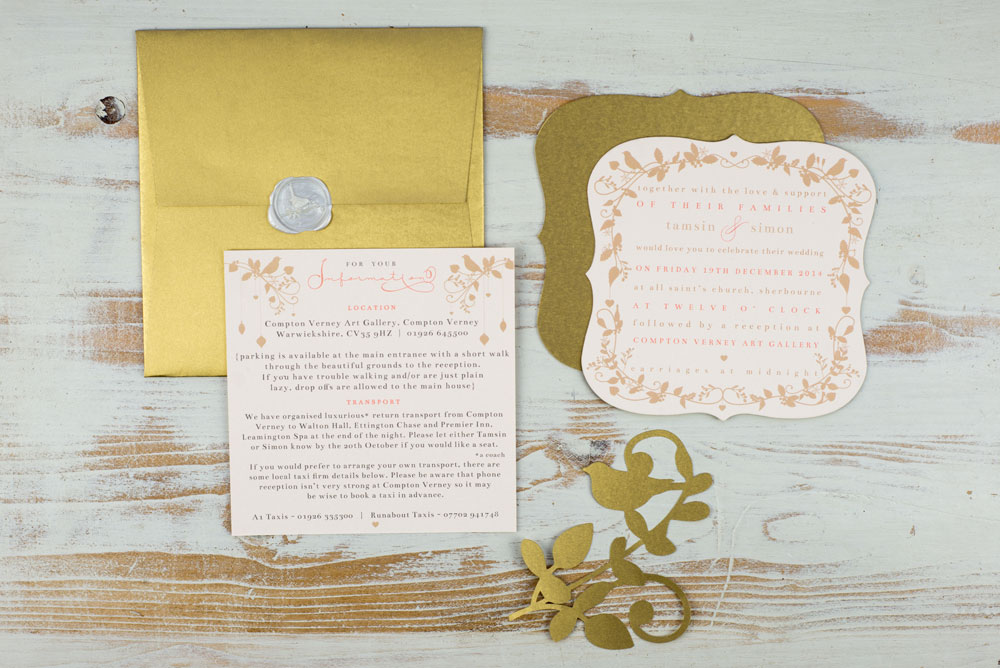 Invitation suite and envelope. Photo by Holly Booth
