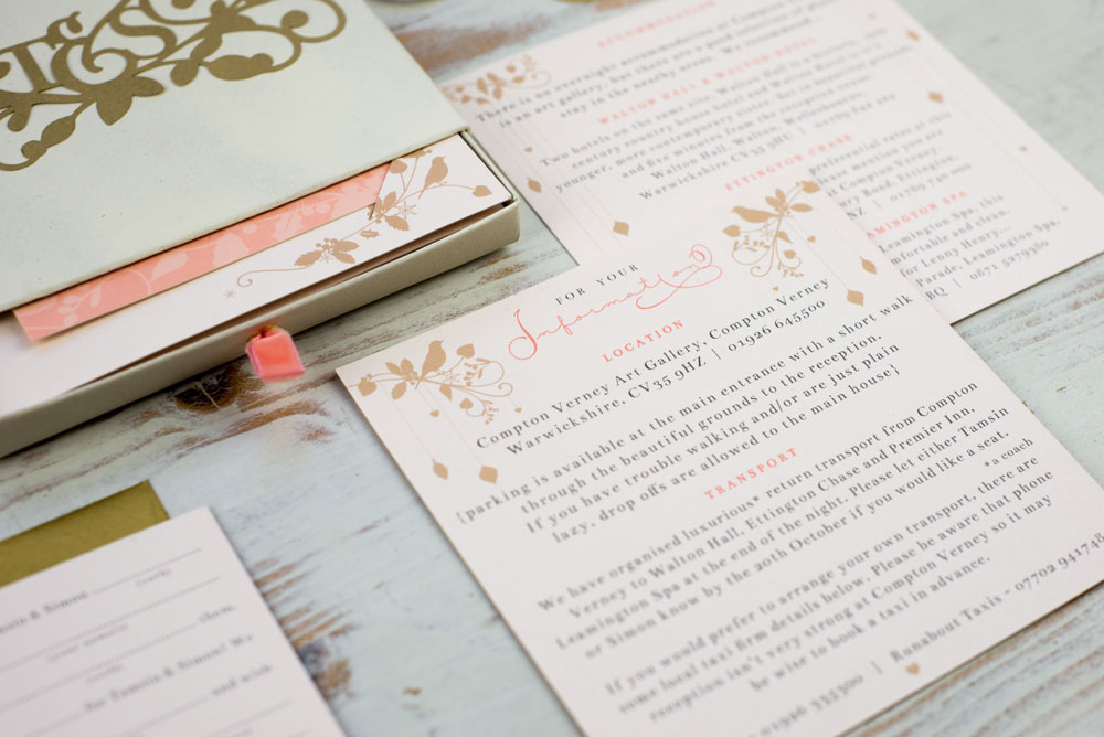 Invitation suite detail. Photo by Holly Booth