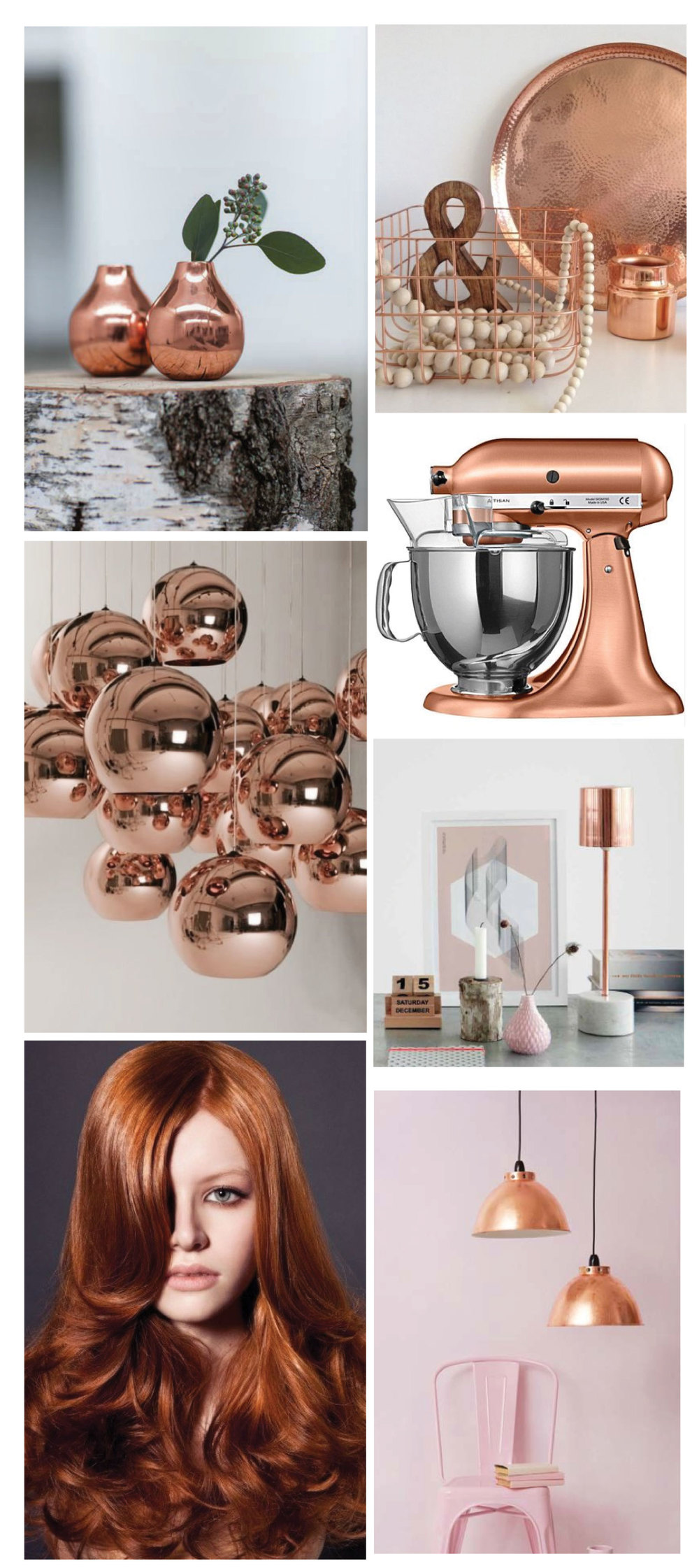 Copper trend: images via Pinterest