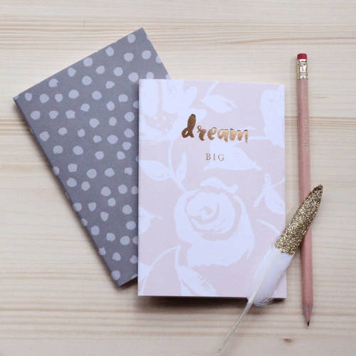 Set of two 'Shine Bright' luxury foiled notebooks
