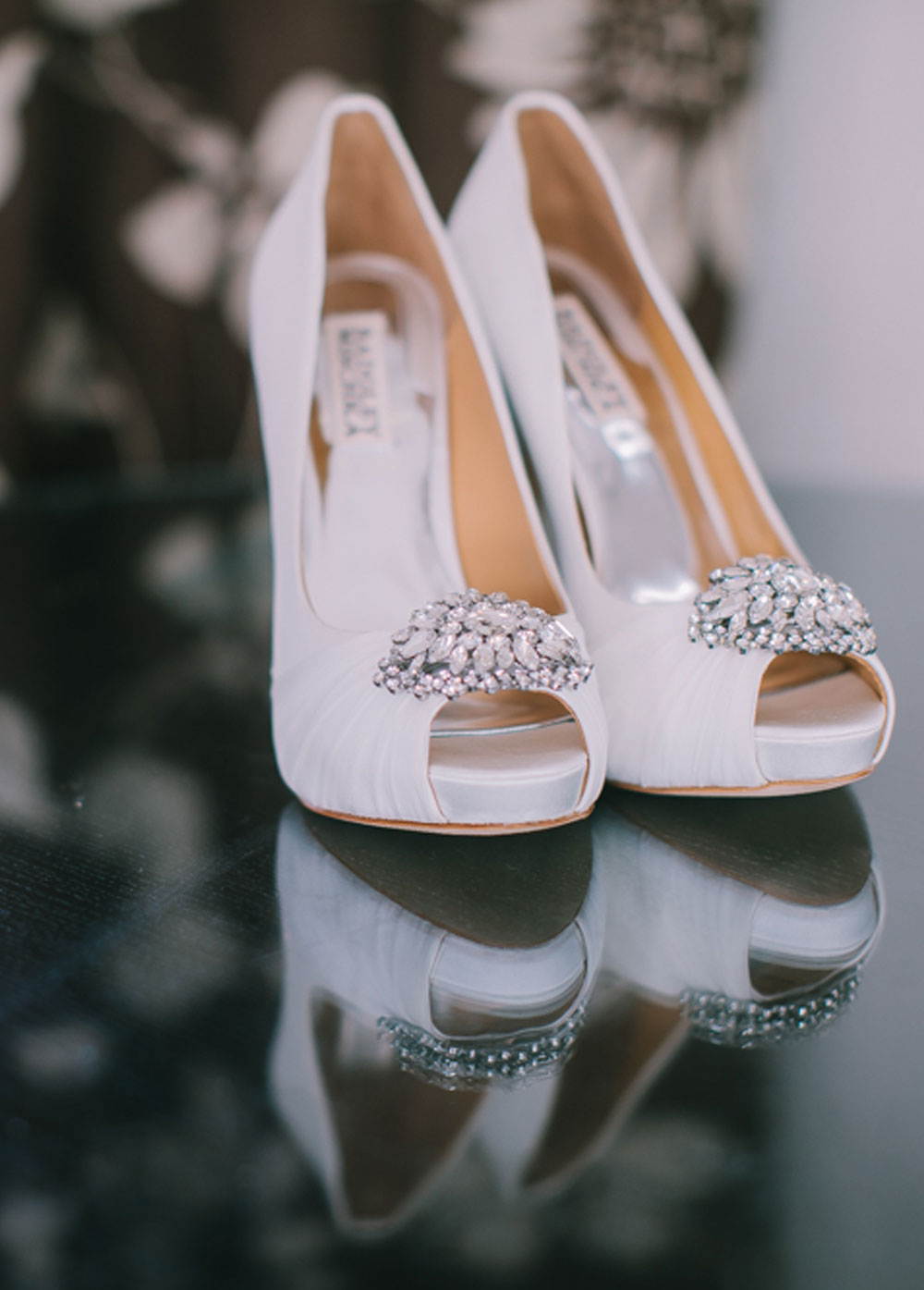 Embellished shoes from Badgely Mishka (photo Chris Barber Photography)