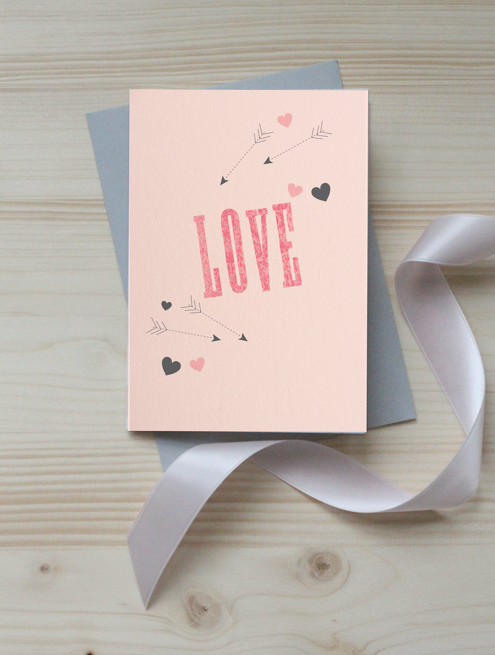 'Love' free Valentine's printable card