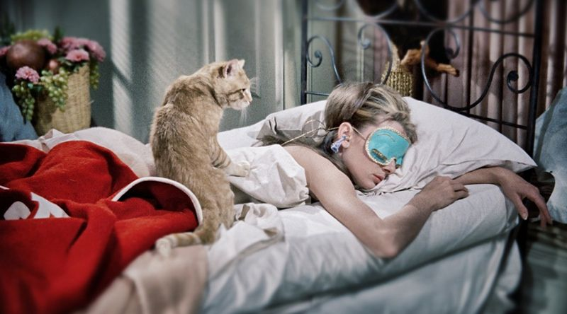 Sleep mask - essential. Cat - optional. Image from Pinterest