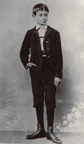 Franz Kafka about 13 years old