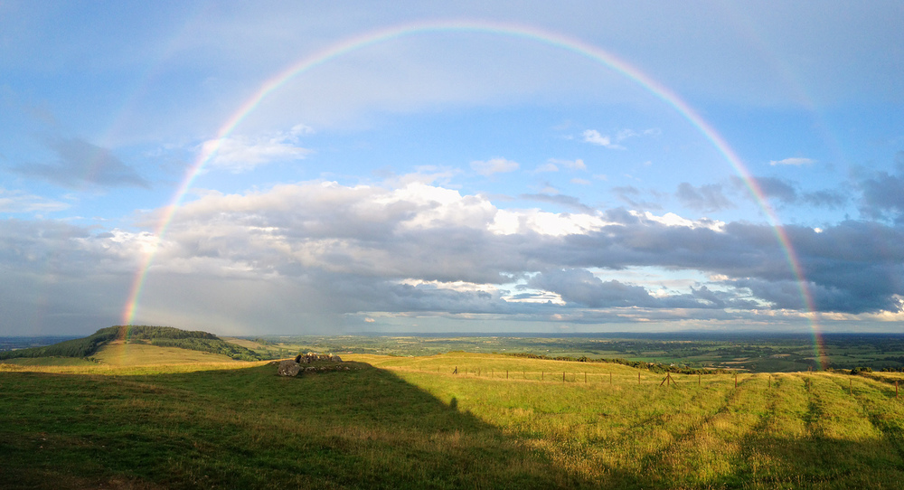 iPhone Panoramic; Loughcrew Rainbow
