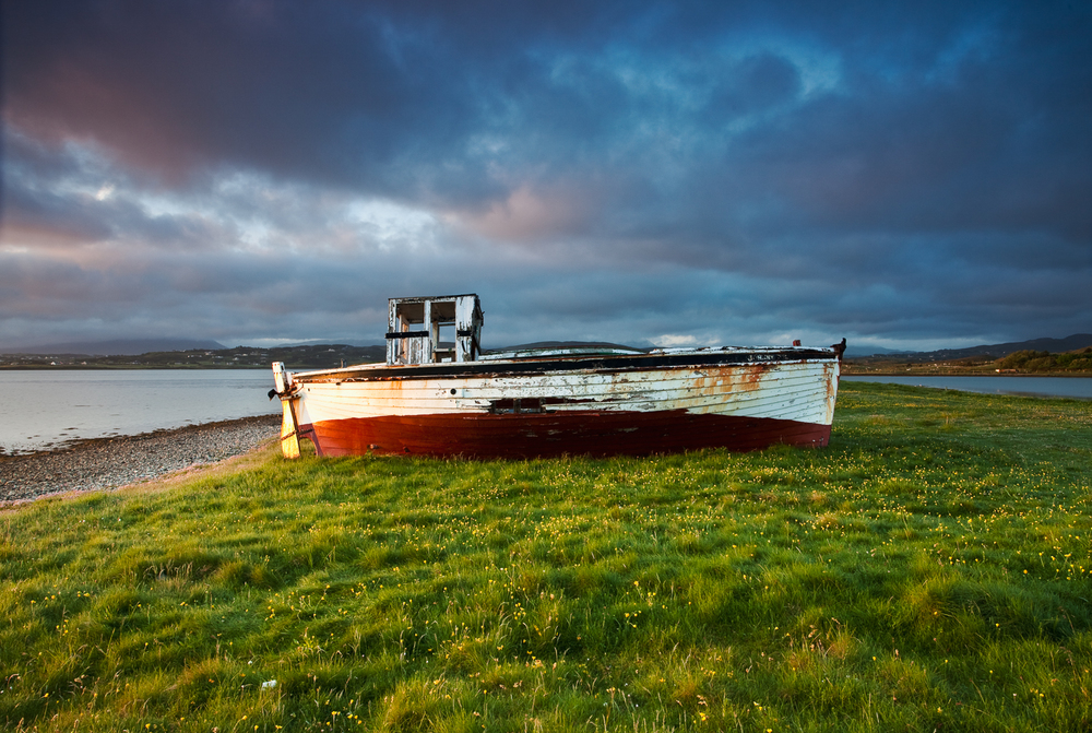 Boat wreck, Magheroarty, Donegal
