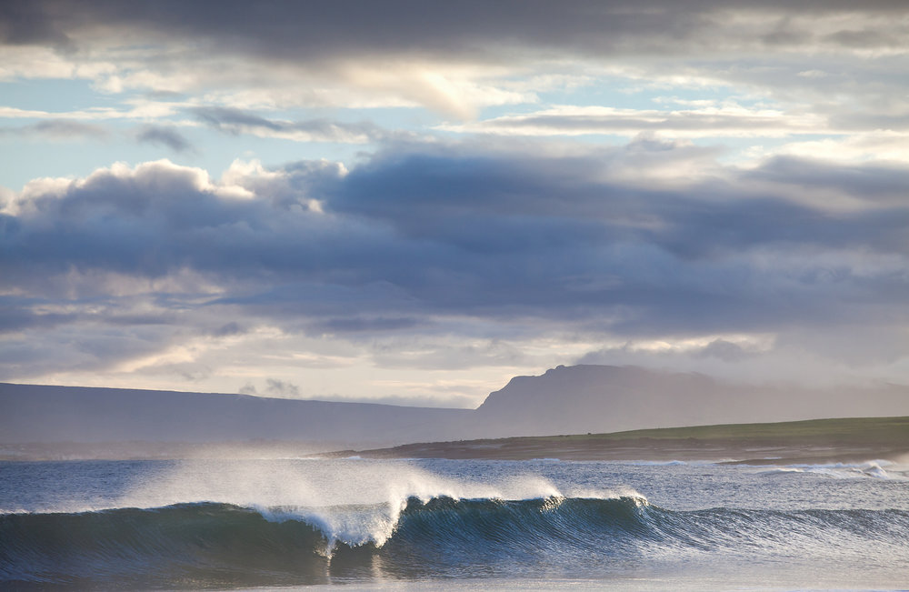 Waves over Dunmore Strand, Sligo Ireland