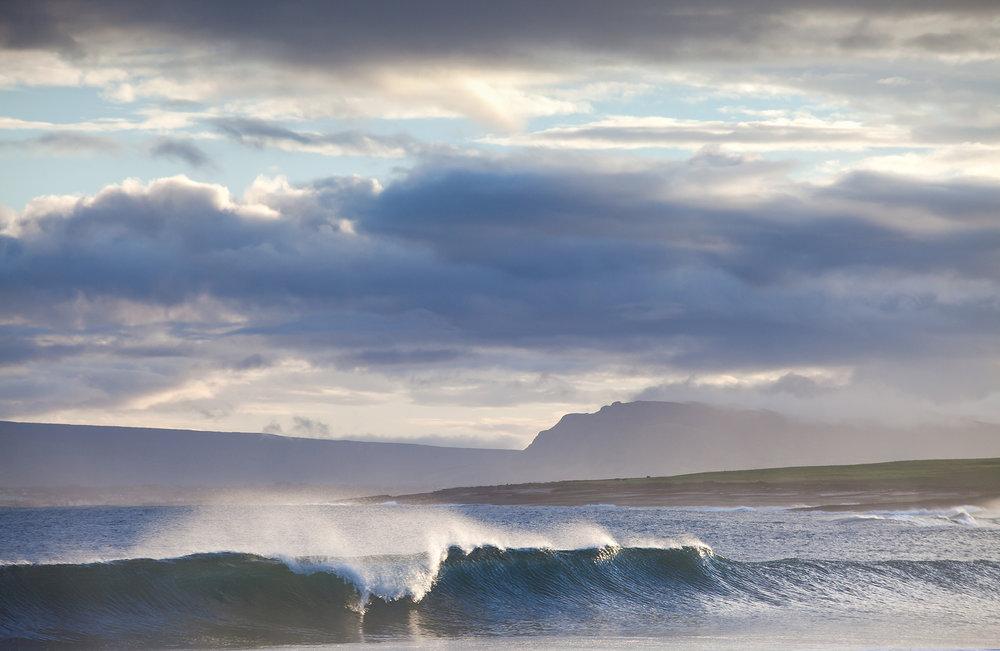 Waves over Dunmore Strand, Sligo Ireland