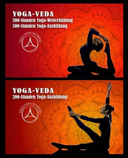 Yoga Veda  Key Visuals für die Präsentation der Ausbildung für Yogalehrer