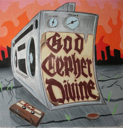 God Cyper Divine CD Cover    12x12 Prismacolor Color Pencil    For Ryan Mitchell-Raleigh, NC