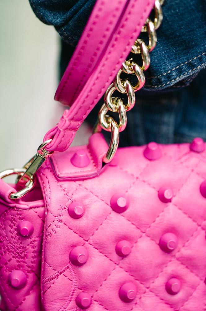 bolso, rosa, vestido, MET