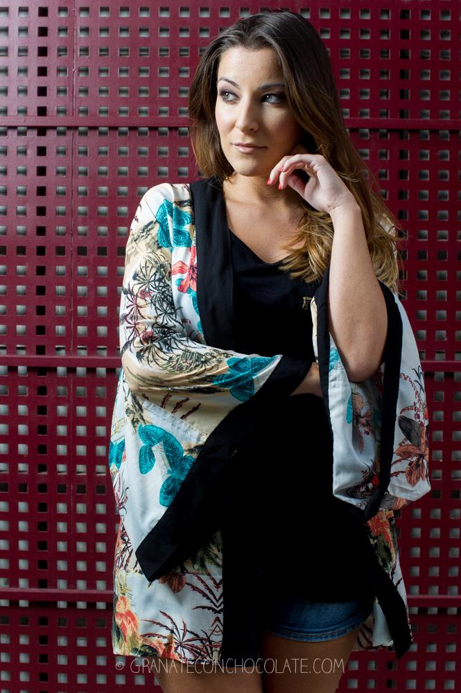 kimono print oriental