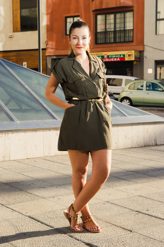 Cant Get You Out Of My Head Vestido verde militar ...