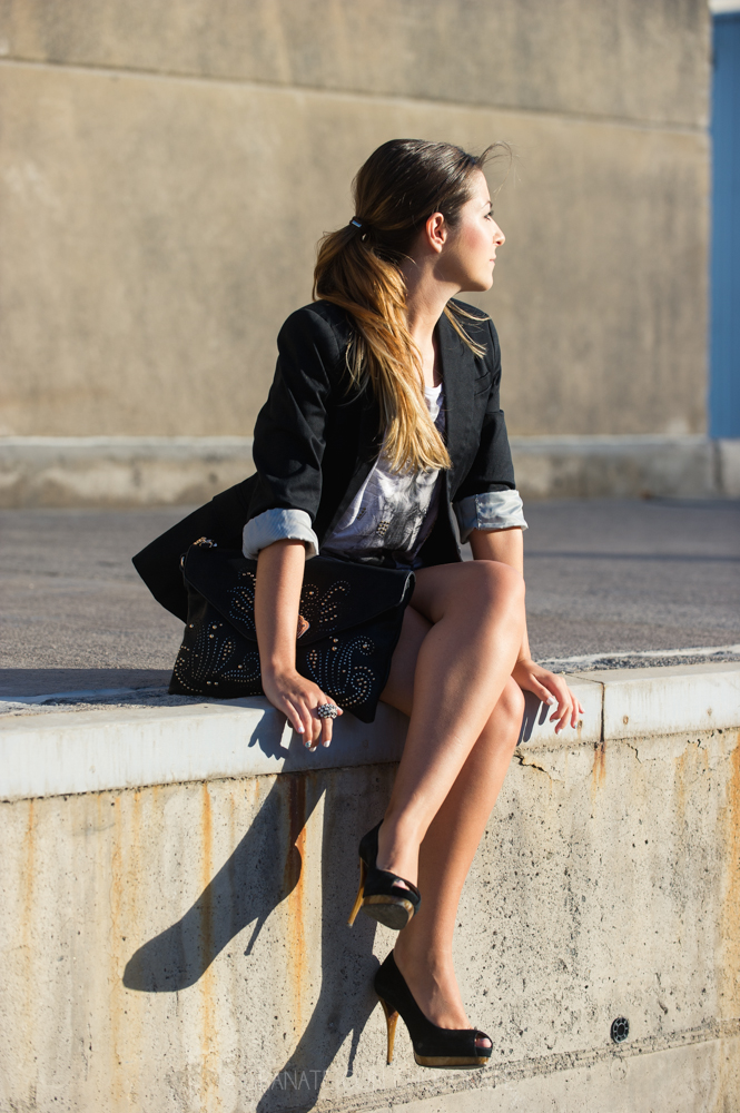 tacones negros Zara