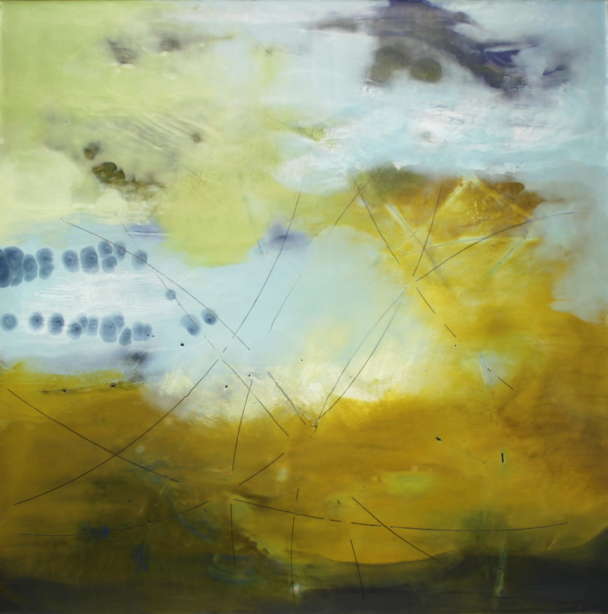 "Circling Through  :: 40"" x 40"" :: sold"