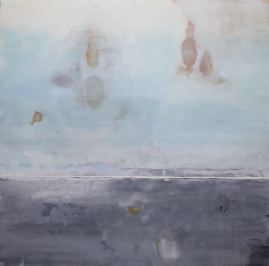 "This Side of Tomorrow  :: 48"" x 48"" :: encaustic on panel :: 2014"