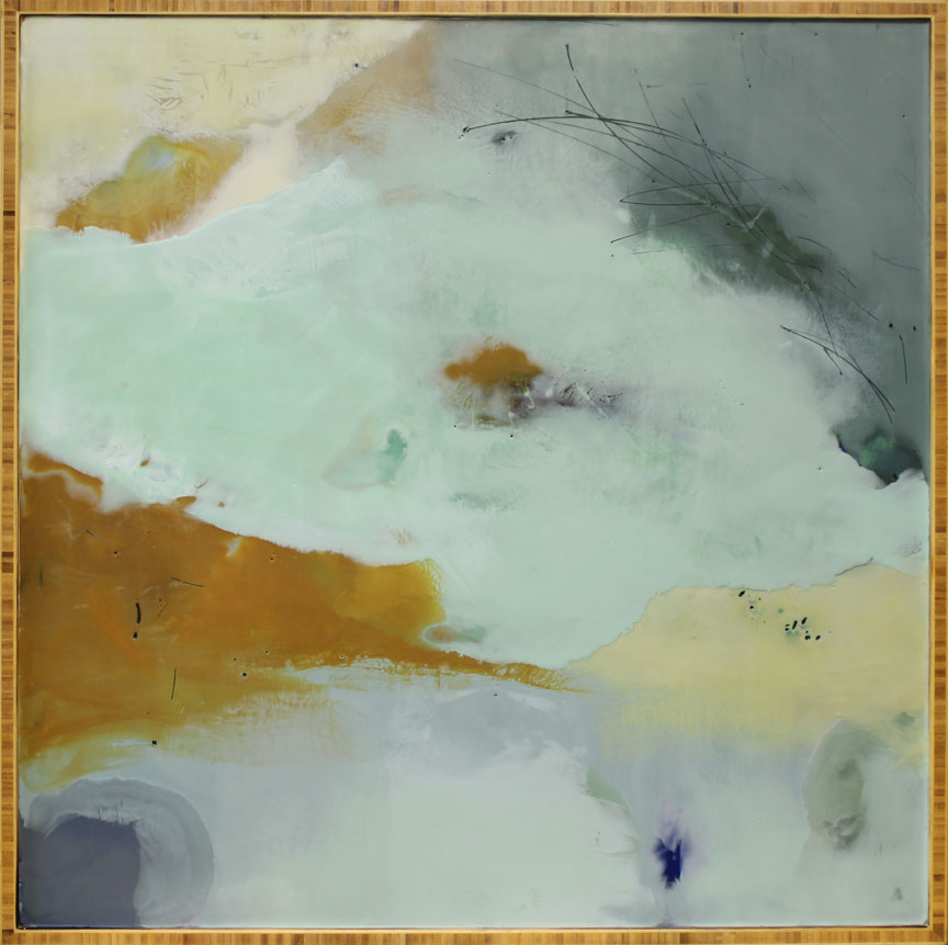 """Remembering the Now :: 36"""" x 36"""" :: encaustic"""