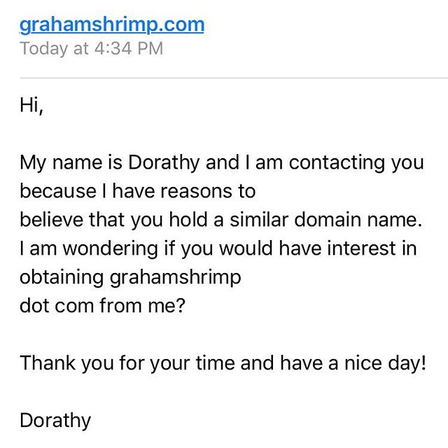 """Also, Dorothy with an """"a""""?"""