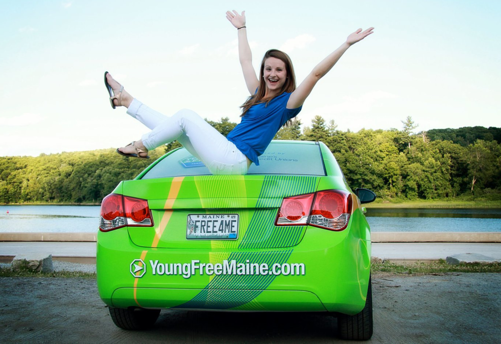 Young & Free Spokester - I traveled around Maine in the Green Machine, engaging with 18 to 25-year old and sharing financial tips and tricks. Maine's Credit Unions select a new Spokester each year, and I carried the title for the 2012/2013 term. I managed the Young & Free Maine website with daily blogs and weekly videos on a range of financial, lifestyle, and other millennial topics.