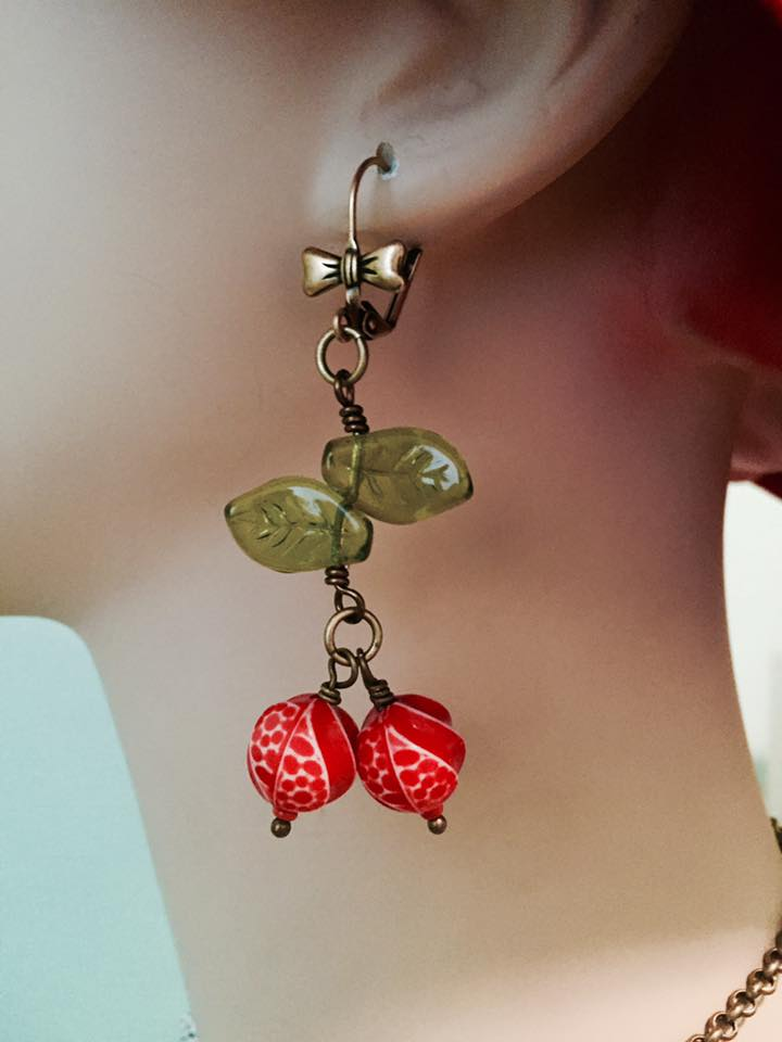 A swingy pair of cherry earrings are always in style!