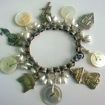 I plan to make several charm bracelets with both lines. They are my absolute go to piece of jewelry. I have a dozen of them in different styles.
